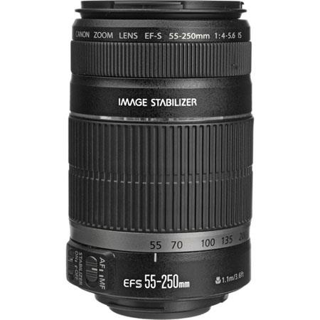 Canon EF S f IS Image Stabilizer Telephoto Zoom Lens USA Warranty 57 - 296