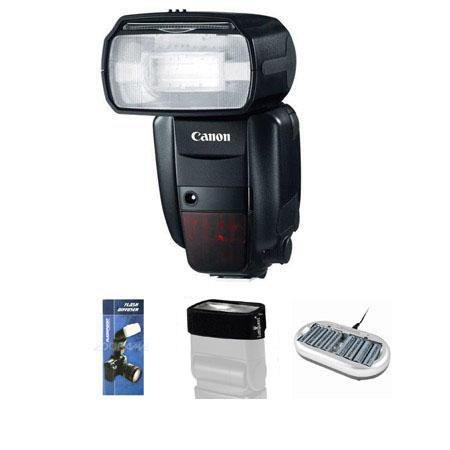 Canon Wedding Event Kit Speedlite EX RT Shoe Mount Flash USA AA Rechargeable Batteries Charger Flash 258 - 281