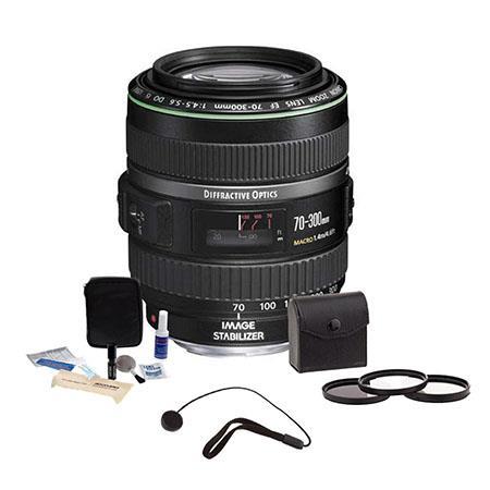 Canon EF f DO IS USM Autofocus Lens Kit USA Tiffen Photo Essentials Filter Kit Lens Cap Leash Profes 31 - 614