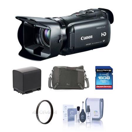 Canon VIXIA HF Full HD Camcorder BUNDLE Camera Case GB SDHC Card Spare Lithium Battery Tiffen UV Fil 112 - 453
