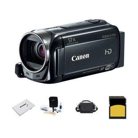 Canon VIXIA HF p Full HD Camcorder Bundle LowePro Carrying Case GB Class SDHC Memory Card Cleaning K 450 - 63