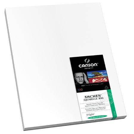 Canson Arches Aquarelle Rag Textured Pure Watercolor Matte Inkjet Paper gsmSheets 185 - 290