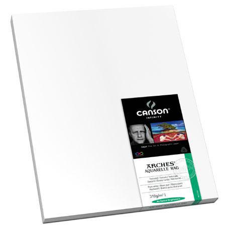 Canson Arches Aquarelle Rag Textured Pure Watercolor Matte Inkjet Paper gsmSheets 123 - 203