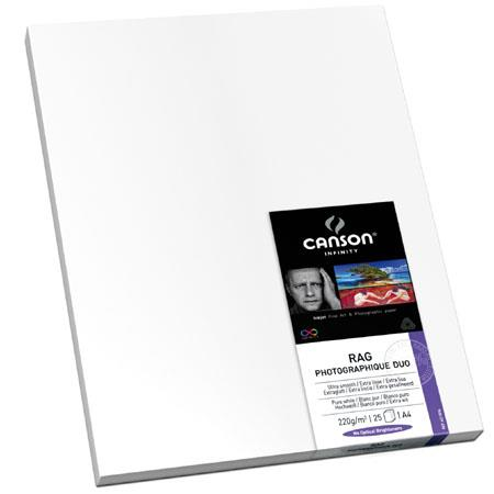 Canson Rag Photographique Cotton Rag Double Sided Ultra Smooth Matte Inkjet Paper gsmSheets 198 - 198