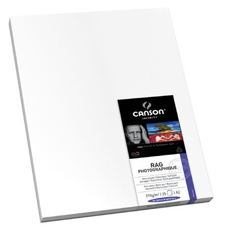 Canson Rag Photographique Cotton Rag Ultra Smooth Matte Inkjet Paper gsmSheets 195 - 491