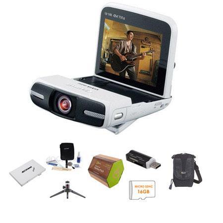 Canon VIXIA Mini High Definition Camcorder MP WHITE Bundle Lowepro REZO Compact Case GB Micro SDHC C 286 - 10