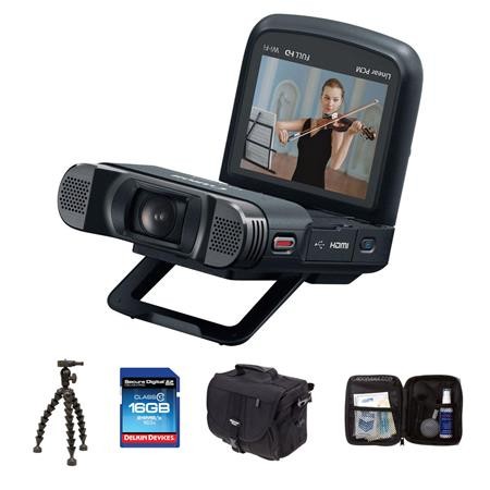CANON VIXIA MINI X Full HD Camcorder Bundle Lowepro REZO Compact Case GB Class SDHC Memory Card Sunp 77 - 339