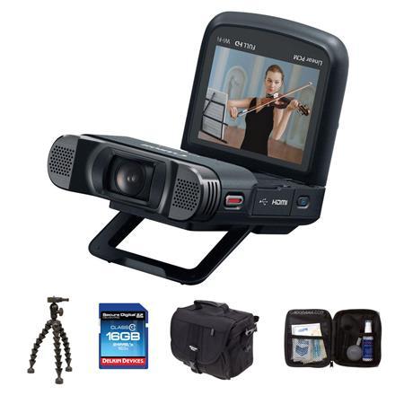 CANON VIXIA MINI X Full HD Camcorder Bundle Lowepro REZO Compact Case GB Class SDHC Memory Card Sunp 227 - 652
