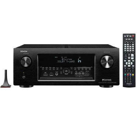 Denon AVR X Ch Home Theater Receiver Apple Airplay D K Pass Through Technology W Power Output HD AMF 214 - 432