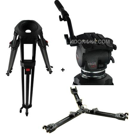 Cartoni Focus HD Fluid Head Stage Tube Ultra Light Tripod Mid Level Spreader and Soft Case  62 - 764