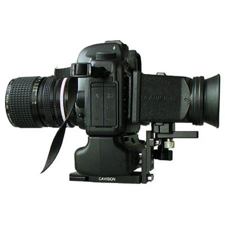 Cavision MHE RCMBG LCD Viewfinder Set Plate Canon D MII Battery Grip Rubber Adapter and Swing Away C 135 - 36