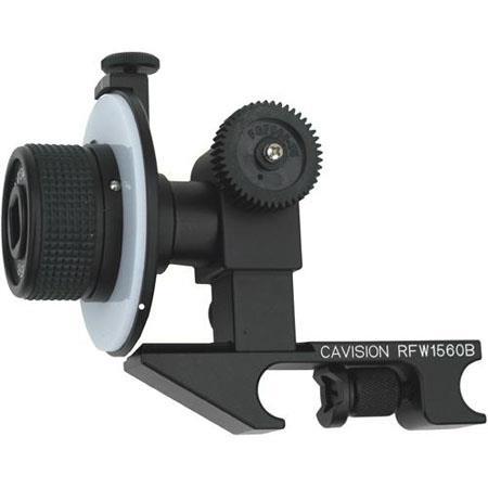 Cavision Mini Single Wheel Follow Focus Canon Gear Prosumer Mini DV Cameras Attaches to Standard Rod 305 - 57