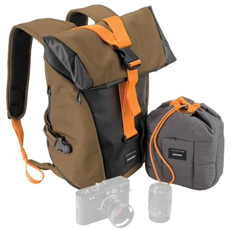 Crumpler Local Identity Small Backpack Laptop BeechBlackOrange FREE Tuft Small Camera Pouch a Value  142 - 725
