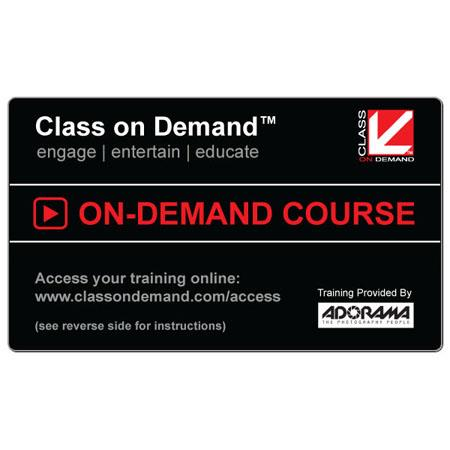 Class On Demand Card Choose any one title from an extensive online video catalog Retail Value up to  107 - 448
