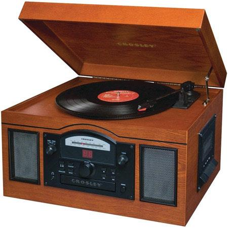 Crosley Radio CRA Archiver USB Turntable Analog AMFM Tuner Cassette and CD Player Paprika 38 - 599