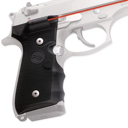 Crimson Trace Rubber Overmold Lasergrip Set Dual Side Button Activation Beretta Semi Automatic Pisto 166 - 385