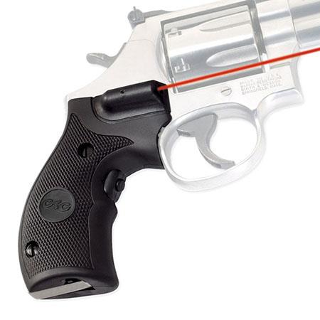 Crimson Trace Compact Rubber Overmold Lasergrip Set Front Activation the Smith Wesson K and L Frame  139 - 498