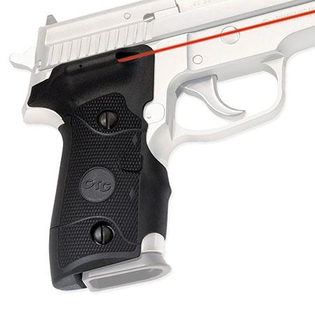 Crimson Trace Rubber Overmold Lasergrip Set Dual Side Activation the Sig Sauer Series Semi Automatic 166 - 385