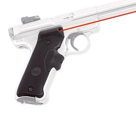 Crimson Trace Rubber Overmold Lasergrip Set Front Activation the Ruger Mark Series Caliber Semi Auto 38 - 130