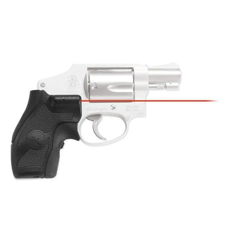 Crimson Trace Rubber Overmold Lasergrip Set Front Activation the Smith Wesson J Frame Series Revolve 98 - 625