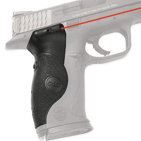 Crimson Trace Polymer Lasergrip Set Rear Overmold Activation the Smith Wesson Full Size M Series Sem 134 - 605