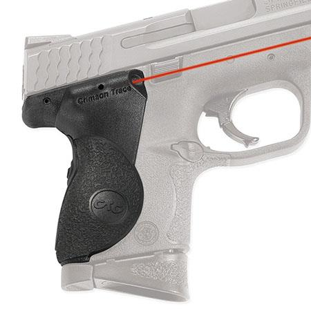 Crimson Trace Polymer Lasergrip Set Rear Overmold Activation the Smith Wesson Compact Size M Series  134 - 605