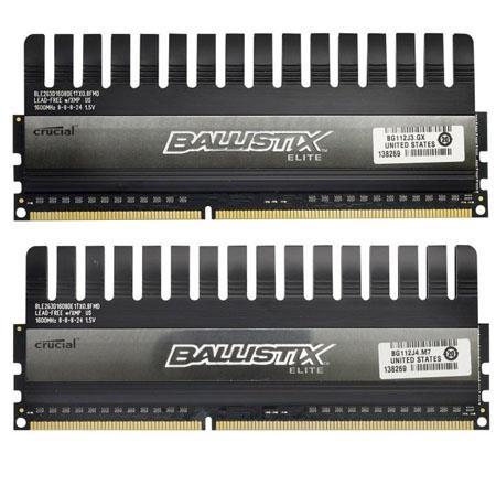 Crucial GBGB BallistiElite Series Pin DIMM DDR PC Memory Module Kit 128 - 97