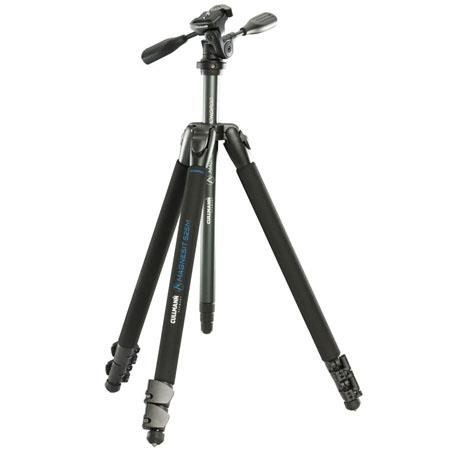 Cullmann Magnesit M Aluminum Tripod with way Head Head and Monopod Center Column Leg Set Supports lb 112 - 542