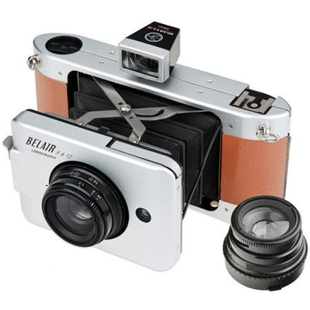 Lomography Belair Jetsetter Medium Format Folding Camera MetalLeather 36 - 600