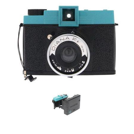 Lomography Diana F Medium Format Camera Kit Removable Lens Super Wide Angle Pinhole Shots Film Insta 266 - 197