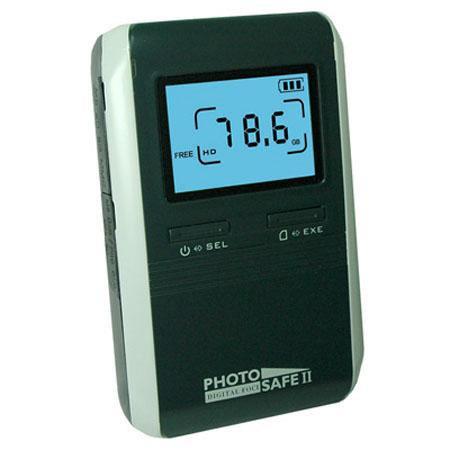 Digital Foci Photo Safe II GB Portable Picture Storage Hard Drive Card Reader USB Interface Midnight 188 - 159