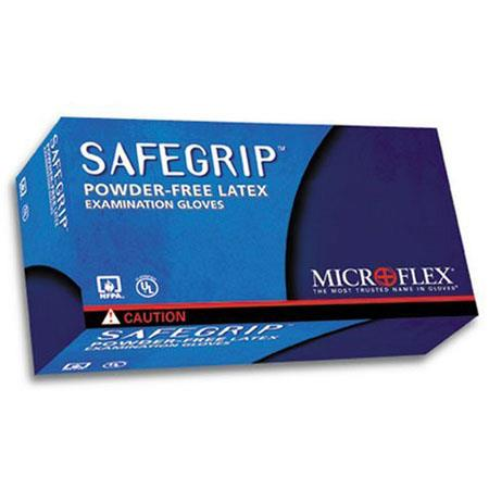 DiVal MicrofleSafegrip Powder Free Extended Cuff Exam Gloves Medium Case of  92 - 423