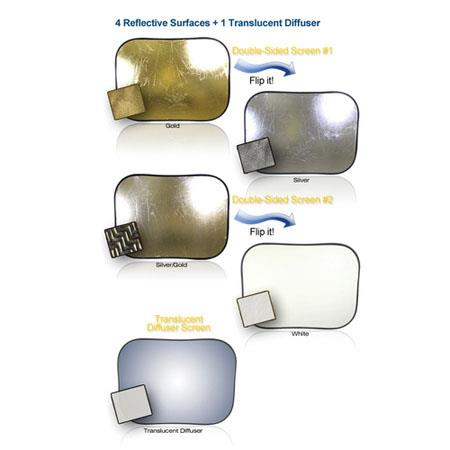 Digital JuiceSuper Reflector Kit Reflective Surfaces Gold Silver GoldSilver Zigzag Translucent Diffu 140 - 183