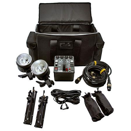 Dynalite MK Kit MP Ws RoadMaPower Pack Two MH RoadmaFlash Head Two Umbrella and Stands 107 - 514