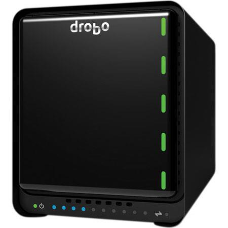 Drobo N Bay NAS Storage Array Gigabit Ethernet HoldsSATA HDDmSATA SSD Hot Swappable 118 - 505