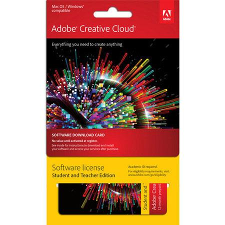 Adobe Creative Cloud Month Single User StudentTeacher Subscription Software Download 73 - 555