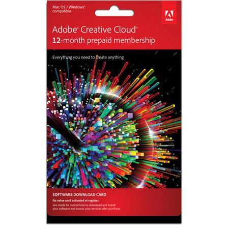 Adobe Creative Cloud Single User Month Subscription Software Download 117 - 377