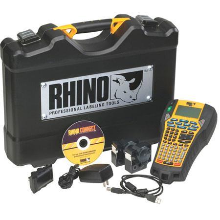 Dymo RhinoPRO Hard Case Kit Label Maker BW Thermal Transfer Roll USB 360 - 63
