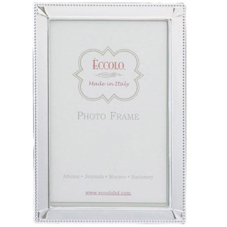 Eccolo Italian Sterling SilverPicture Frame Diamond Corners 62 - 131