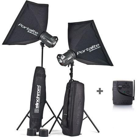 Elinchrom BRXHead Portalite To Go Monolight Kit Stands 75 - 667