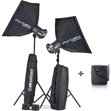 Elinchrom BRXHead Portalite To Go Monolight Kit Stands 252 - 670