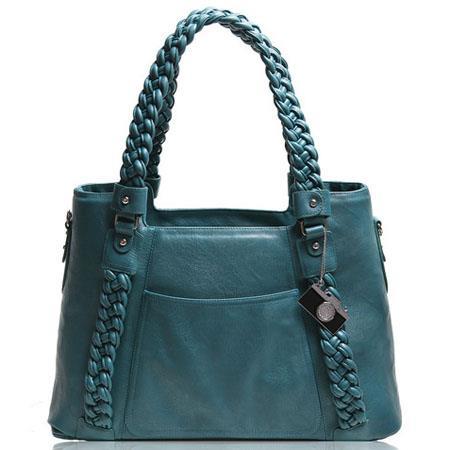 Epiphanie Clover Shoulder Camera Bag Teal 118 - 554