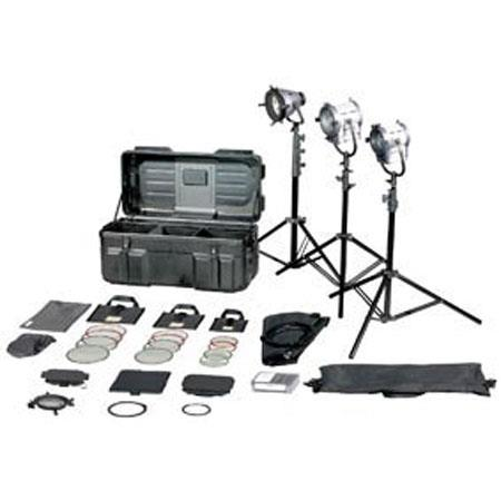 Film Gear Traveler S Tungsten Fresnel Kit Lights Stands Accessories and Wheeled Case 192 - 774