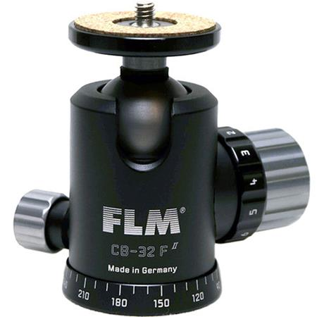 FLM CB F Professional Ballhead Comfortable Friction and Panorama Base Supports lbs 112 - 119