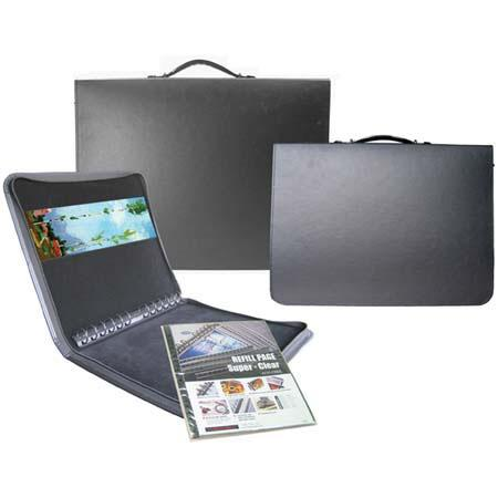 Florence Presentation Case Bonded Leather Series Zippered Portfolio Case Spine Mounted Multi Ring Me 37 - 399