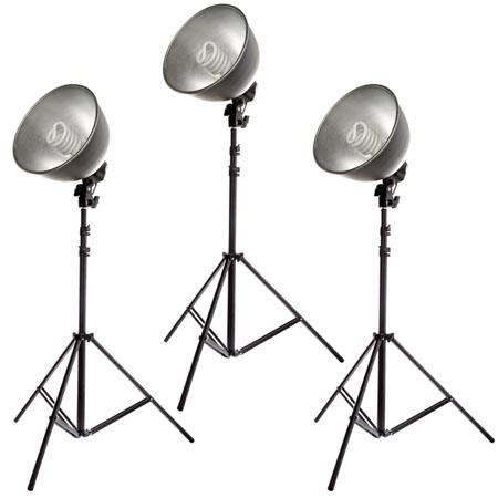 Flashpoint Cool Kit Cool Light Reflectors W Fluorescent Bulb W Equivelant and Black Stands 32 - 749