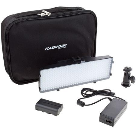Flashpoint VL Video Dual color Kit Battery Case Diffuser 124 - 249