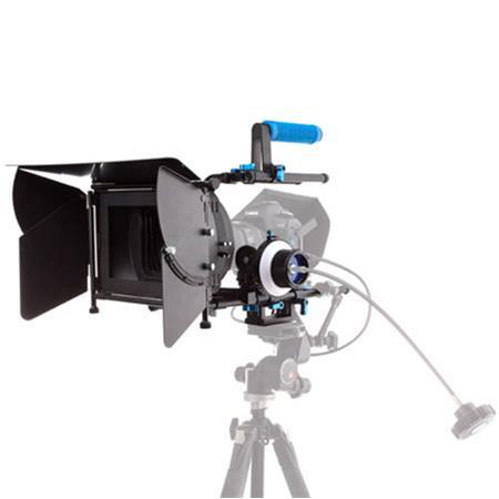 Flashpoint DV DSLR Matte BoPro Complete Bundle wFollow Focus Pro II C Arm Swingaway Arm Flags Side W 190 - 737