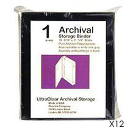 Adorama Archival Plastic Storage Binder BoO Rings Color Case of Twelve 60 - 290