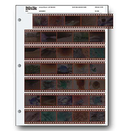 Print File Archival Size Negative Pages Holds Seven Strips of Five Frames Pack of  85 - 140